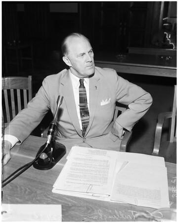 Mental health hearing, 1958