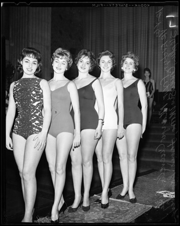 Los Angeles city employees beauty contest, 1960