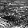 An aerial shot of the Hamilton Manufacturing Company within the Central Manufacturing District looking northeast