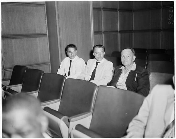 Twins reckless driving arrest, 1959