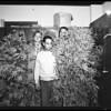 Marijuana plant in man's backyard (1023 Mahar Avenue, Wilmington), 1952