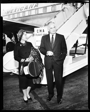 Senator's arrival, 1958