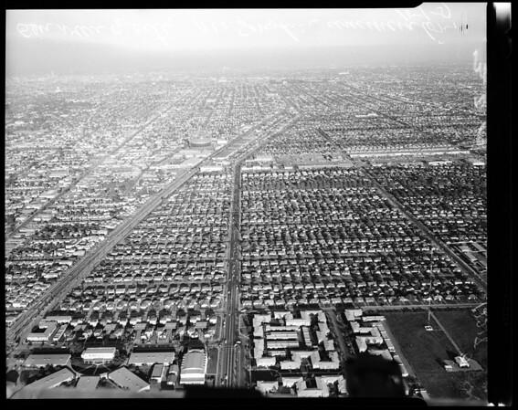 No smoking incinerator (air views), 1957