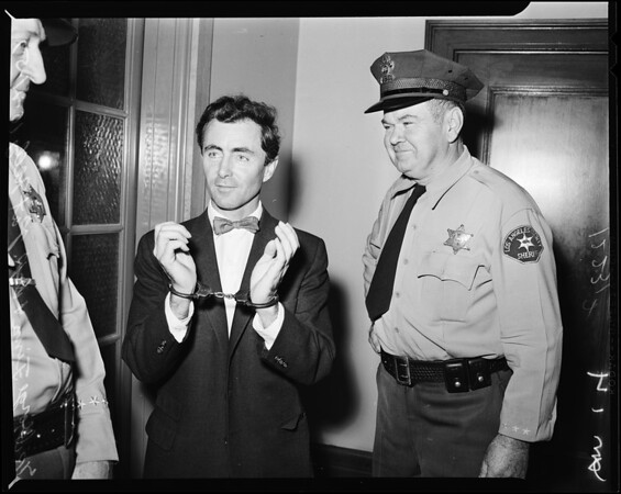 Finn Twins arrest Judge Chantry, 1957