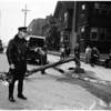 Traffic accident (8th Street and Bonnie Brae Street), 1952.