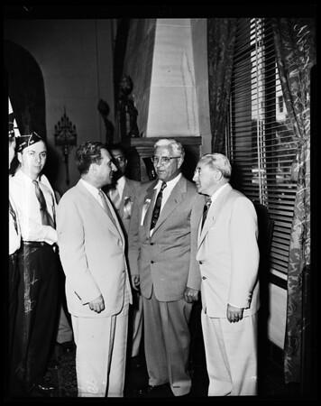 Moshe Sharett (Minister of Foreign Affairs for State of Israel), 1952