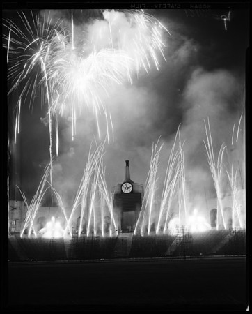 Fireworks at Coliseum, 1957