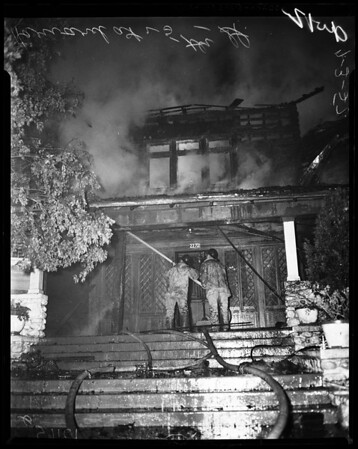 $25,000 fire on 2272 South Harvard Boulevard (at 25th Street), 1957