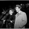Movie stars return from Egypt, 1954
