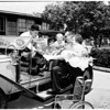 Horseless carriage day at Casa Colina, 1958