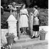 Doll fair girls planning travel, 1952