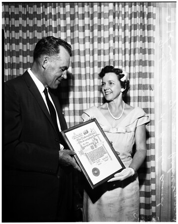 National Press photographers citation to Judge Fricke, 1958