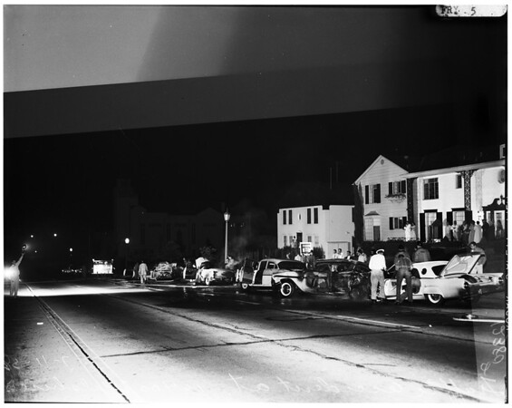 Traffic accident, 1958