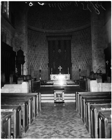 Interior of St. Paul's Episcopal Cathedral, 1958