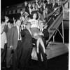 Football -- Del Mar Junior College (Texas) arrives for Junior Rose Bowl,1959