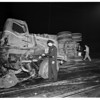 Truck versus train accident...8th Street and Alameda Street, 1951