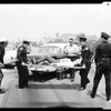 Traffic accident on Santa Ana Freeway at 1st Street, 1959