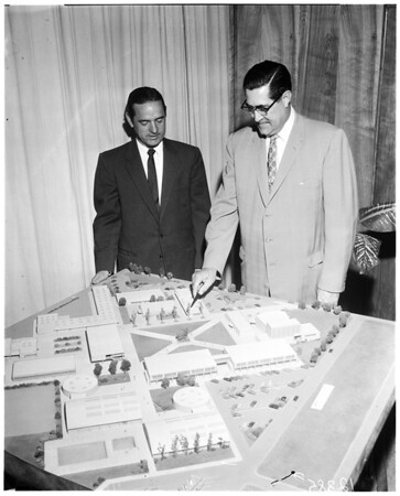 Model of New Lawndale high school, 1958