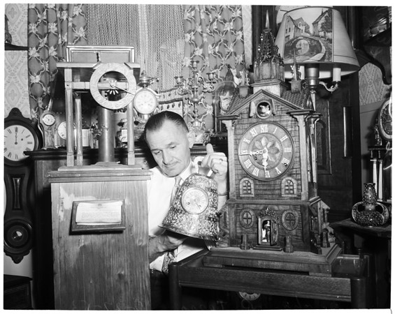 Rare old clocks, 1953