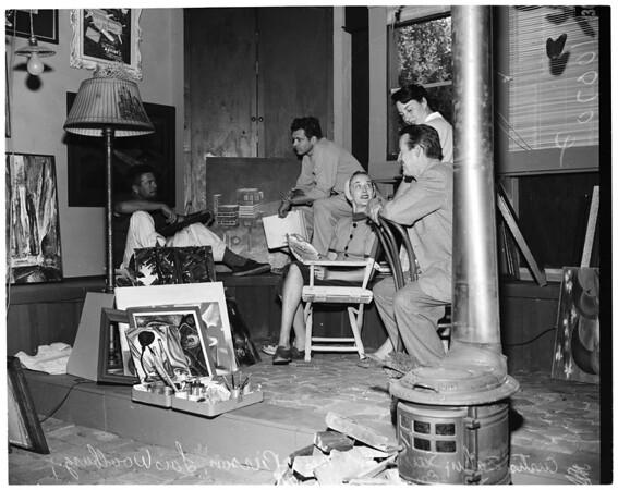 Malibu Art Exhibit (Malibu Inn), 1953