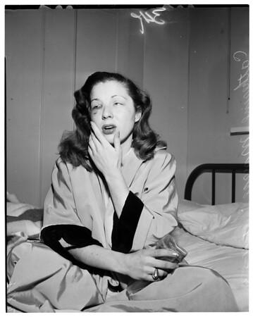 Beaten by wrestling promoter, 1953
