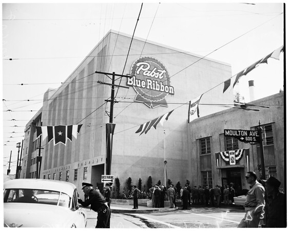 Detail 6 of 8, Pabst Brewery opening at 1910 North Main Street, 1953
