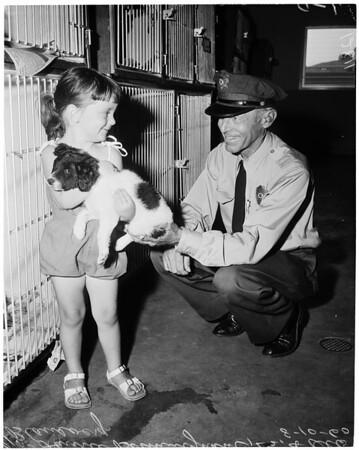 Dedication of West Los Angeles animal shelter, 1960