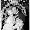 Peggy Lee wedding, 1953