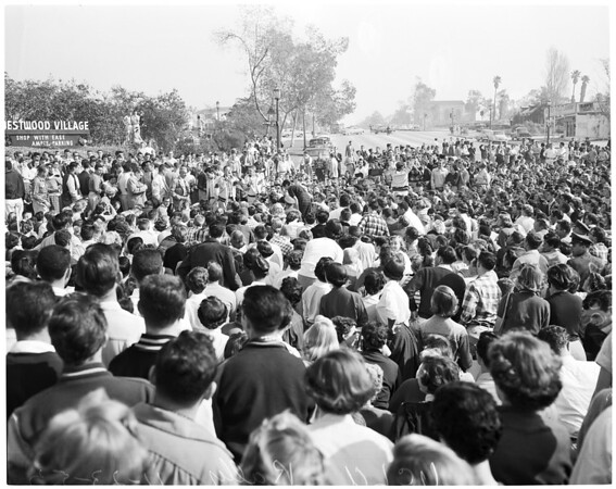 Detail 16 of 18, UCLA victory rally, 1953