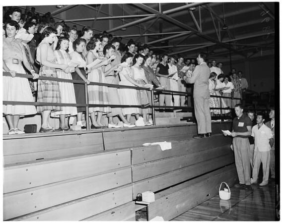 Detail 2 of 6, Mount San Antonio College freshman day, 1952