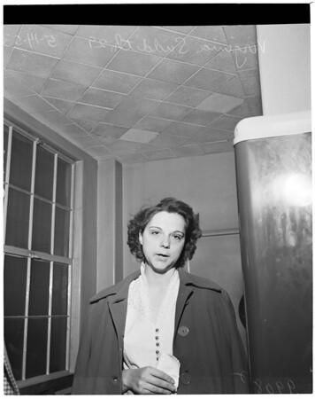 Arson suspect in Central jail, 1953