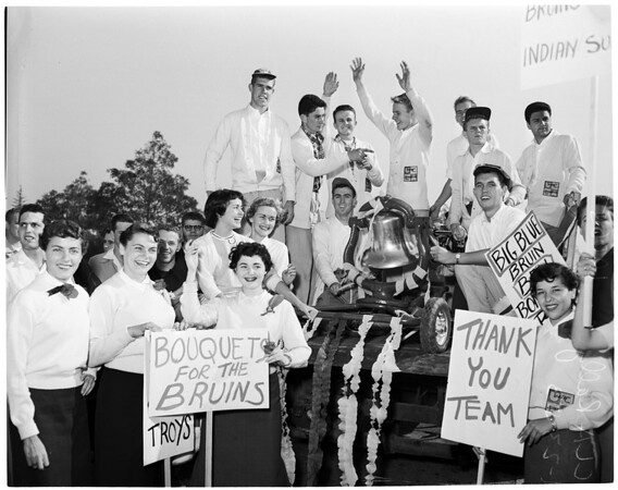 Detail 3 of 18, UCLA victory rally, 1953