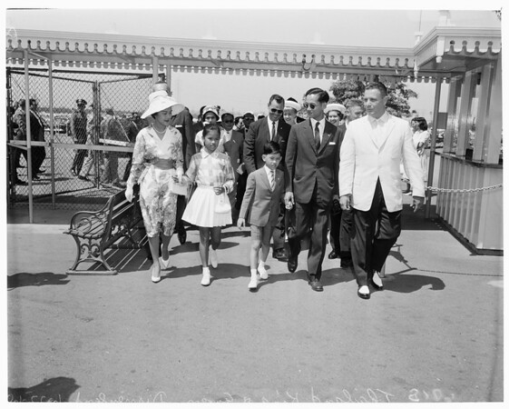 Detail 4 of 4, King and Queen of Thailand at Disneyland, 1960
