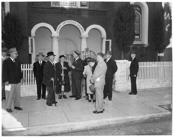 Greek Church closed (Greek Orthodox Church at 1216 San Julian Street), 1953