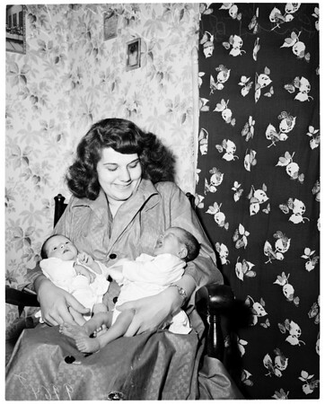 Twins born to G.I.'s wife, 1953