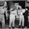 Detail 3 of 4, Army Reservists leave for camp, 1953
