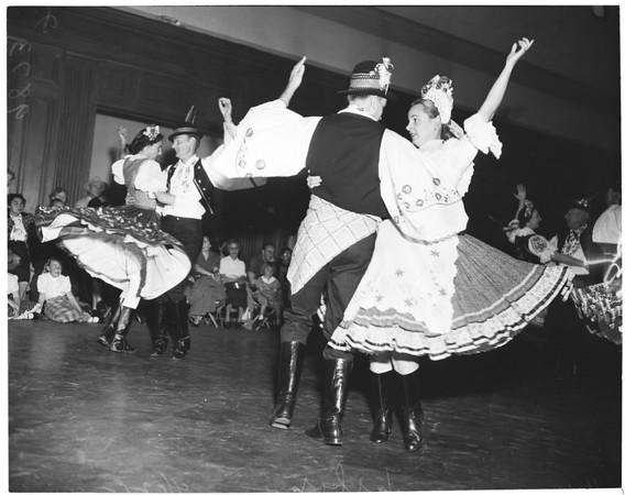 Folk dancers at County Museum, 1953