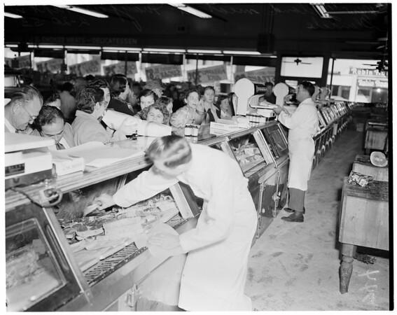 New Zealand meat (Mayfair Market), 1953