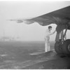 Fog cripples airport (Burbank), 1953
