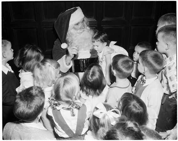 Christmas party at University Club, 1953