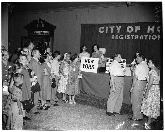 Detail 1 of 2, City of Hope convention, 1953