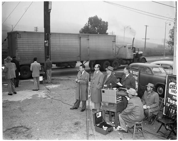 Muffler noise test, 1953