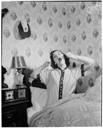 Rose Queen at home, 1953
