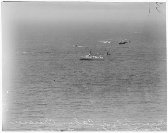 Coast Guard rescue of boat, 1960