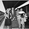"""Detail 2 of 2, """"Carnival in Flanders"""" Company arrival at Union Station, 1953"""