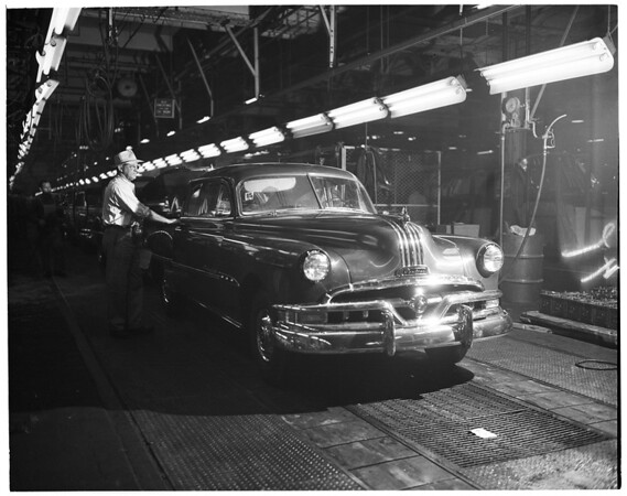 General Motors Plant at 7700 Tweedy, South Gate Assembly Line, 1952