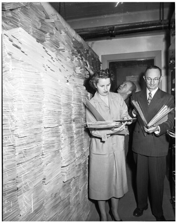 Municipal Courts files to be destroyed, 1953
