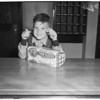 Boy fools bandit, 1953