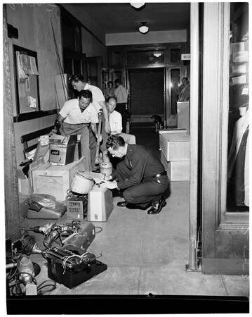 Detail 4 of 5, Burglary loot in West Los Angeles, 1953