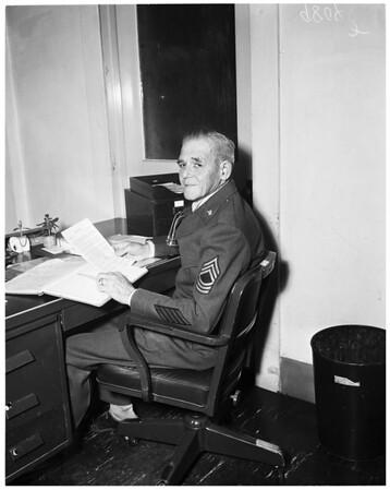 Old soldier overseas, 1953